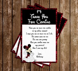Remarkable Minnie Mouse Bridal Shower Thank You Card Novel Concept Designs Minnie Mouse Bridal Shower Thank You Card Bridal Shower Thank You Cards Knot Bridal Shower Thank You Cards Sayings