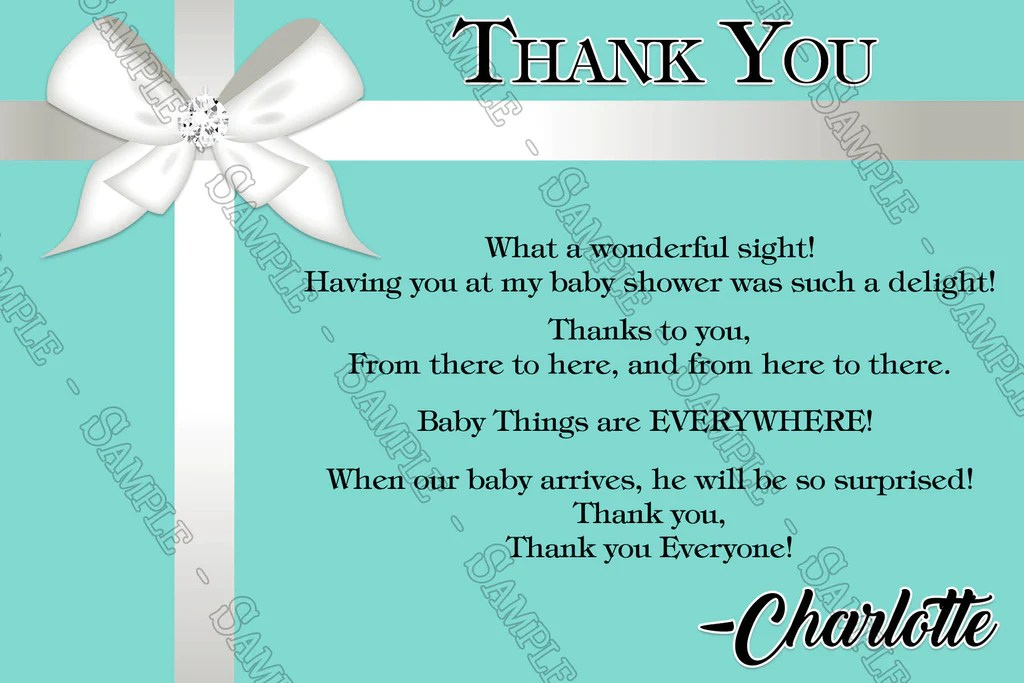 Tiffany And Co Thank You Cards October 2018 Discount