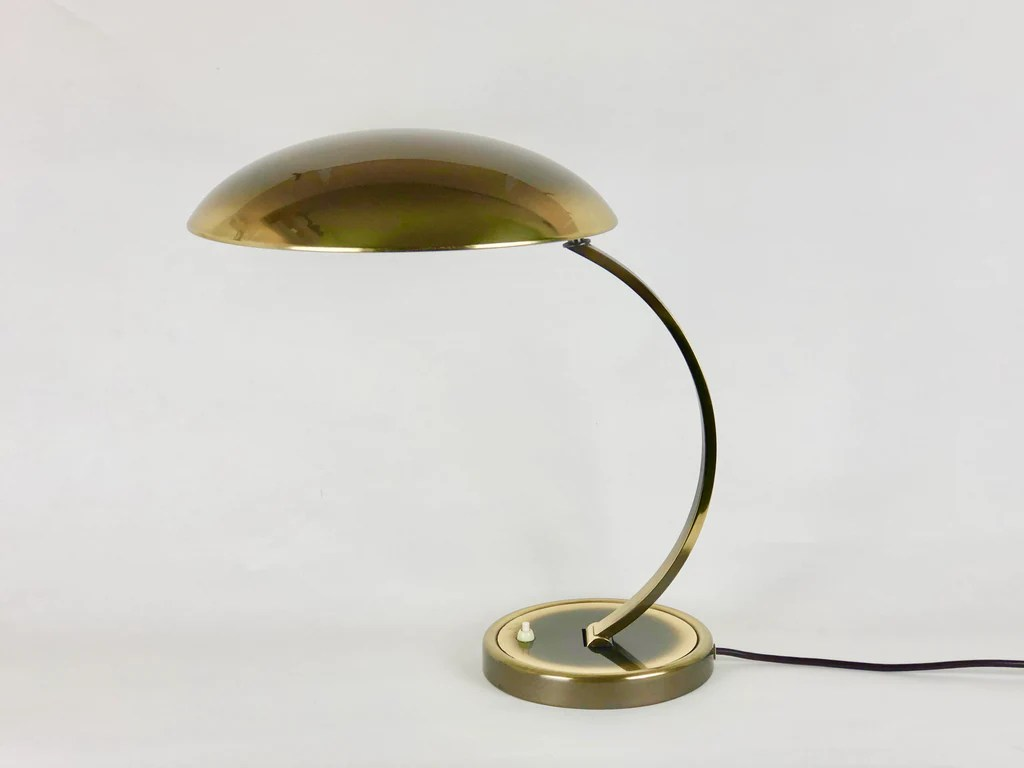 Leuchten Kaiser Bauhaus Brass Desk Lamp, Model 6751 By Christian Dell For Kaiser Leuch - Eyespy