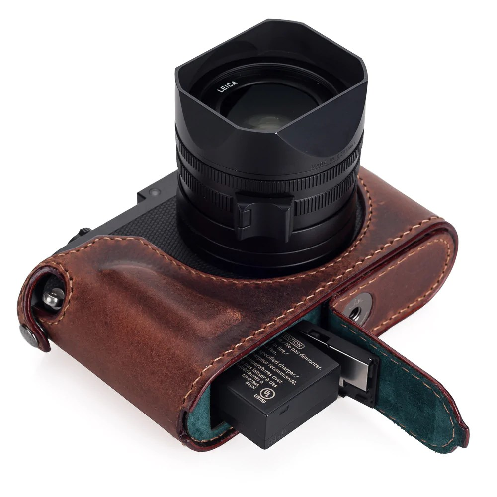Arte Di Mano Half Case Arte Di Mano Leica Q Typ 116 Half Case With Battery Access Door