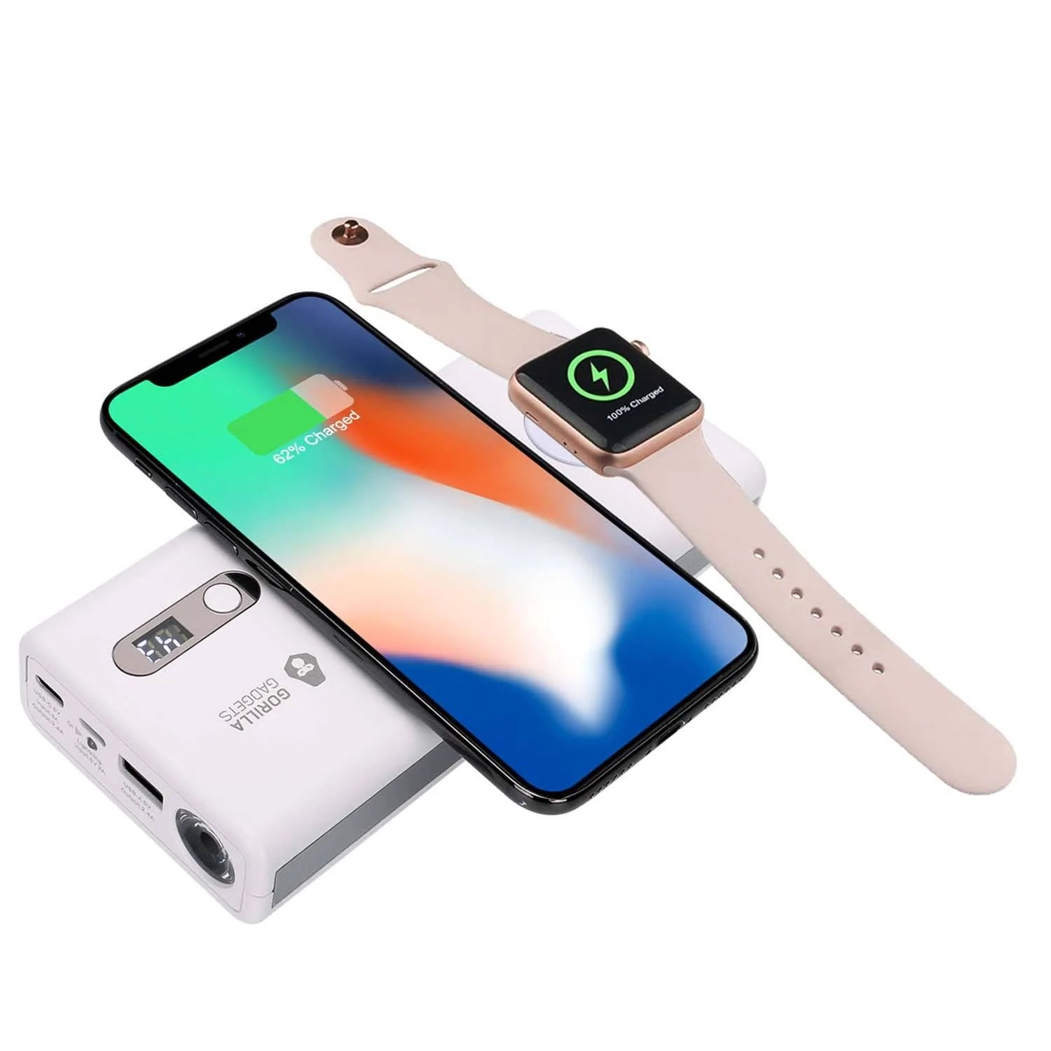 Handy Qi 2 In 1 Qi Wireless Power Bank And Apple Watch Charger 20000mah