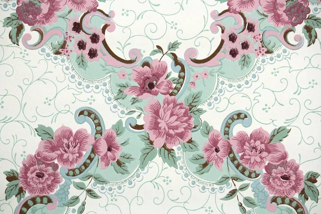 1940s Floral Vintage Wallpaper Hannah39s Treasures