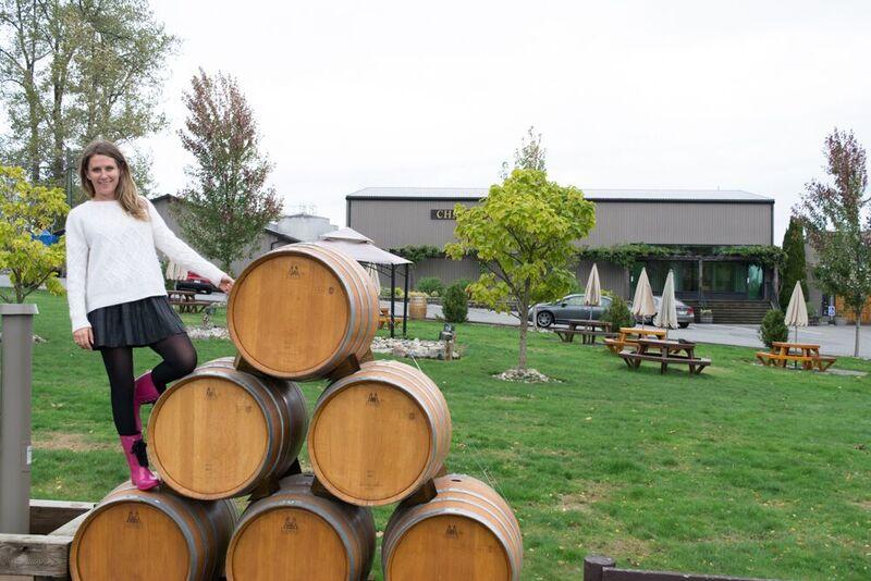 Courtney Watkins at Chaberton winery