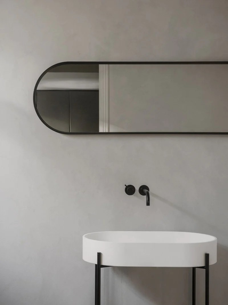 Oval Wall Mirror W Aluminum Frame By Norm Architects Menu Furniture Decor