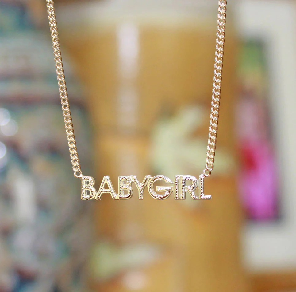 babygirl silver name necklace