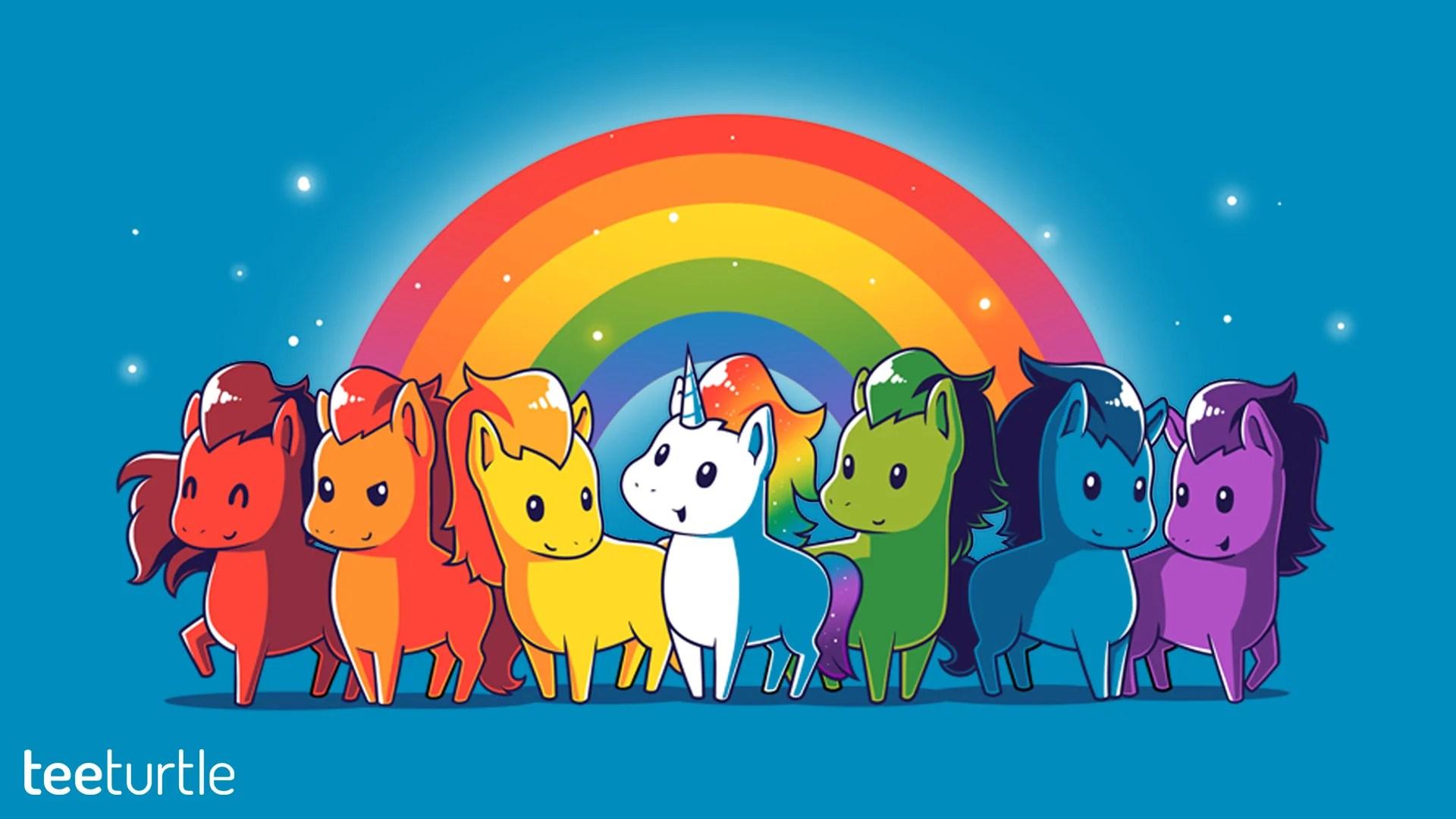 Cute Cartoon Unicorn Wallpapers Desktop Wallpapers Teeturtle