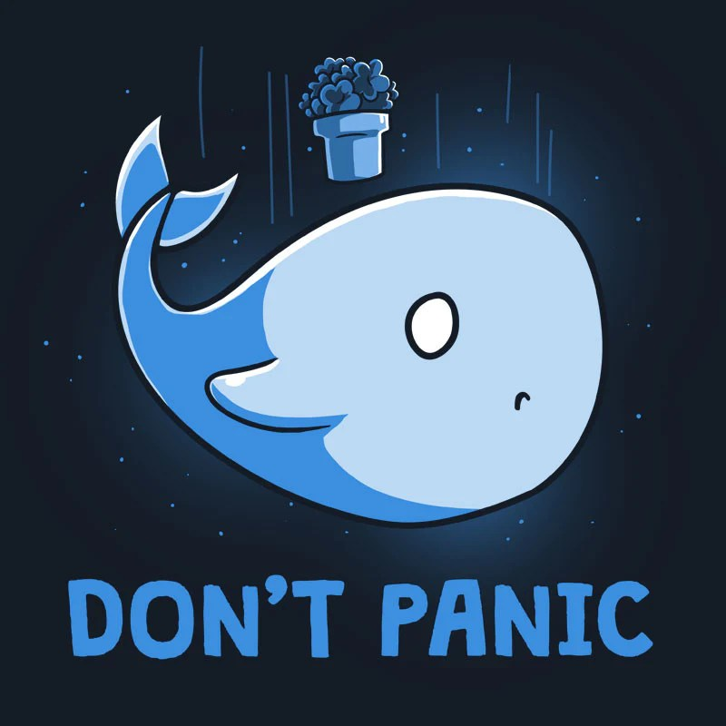 Cute L Wallpaper Don T Panic Funny Cute Amp Nerdy Shirts Teeturtle