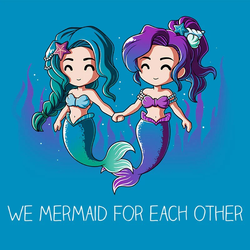 Cat Girl Anime Live Wallpaper We Mermaid For Each Other Funny Cute Amp Nerdy Shirts