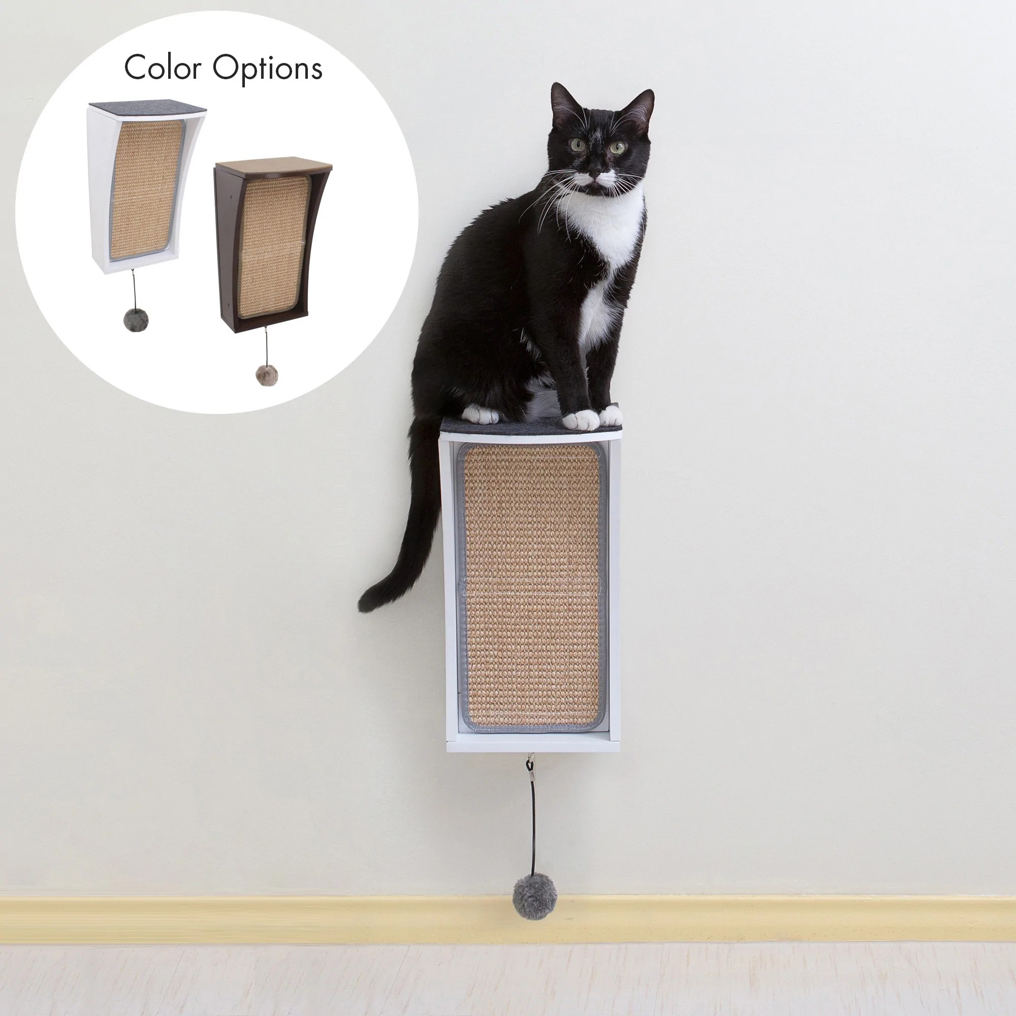 Affordable Cat Shelves Hauspanther Catchall Wall Mounted Cat Scratcher Perch