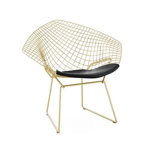 Bertoia diamond chair gold knoll modern furnishings palette
