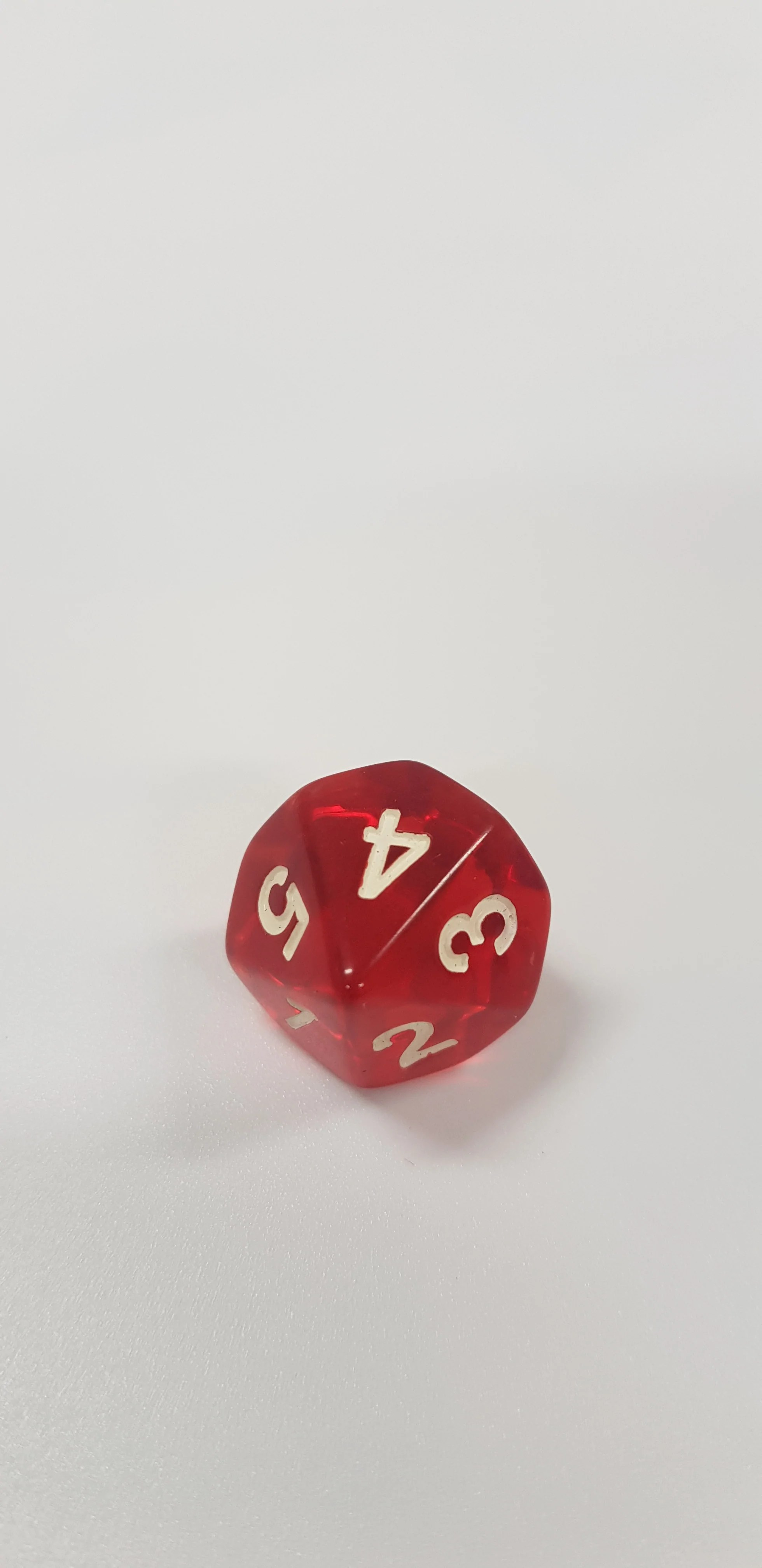 Red 1.com 10 Sided Dice For Math Games