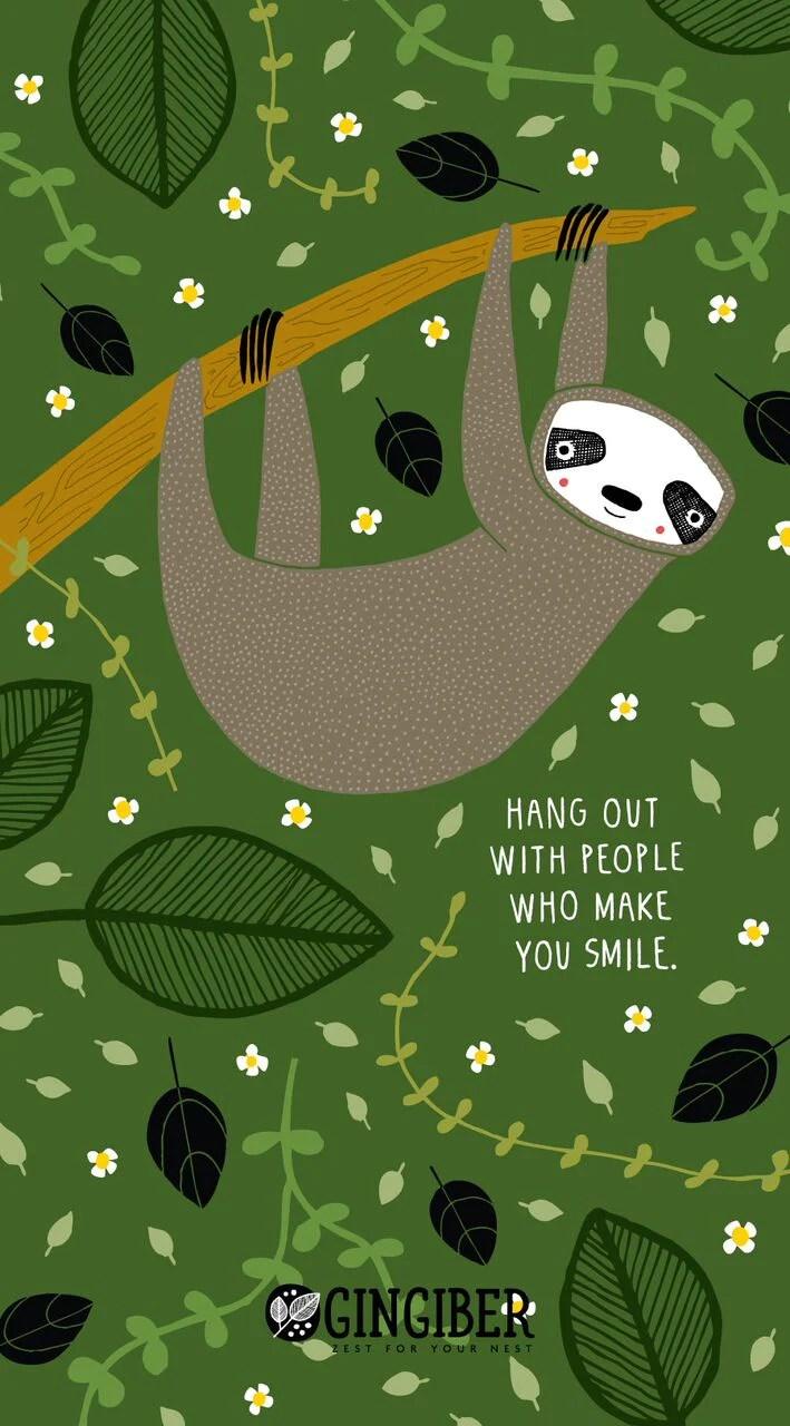 Sloth Wallpaper Cute Free Digital Sloth Downloads Gingiber