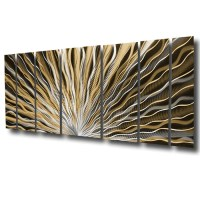 """Vibration"" 66""x24"" Large Earthtone / Brown Modern ..."