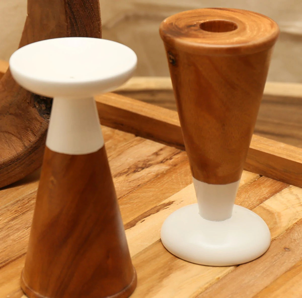 Wooden Candle Holders Australia 400068 Oslo Reversible T Light Candle Holder Wood Ls