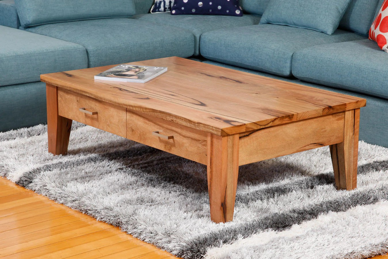 Solid Timber Coffee Table Two Drawer Solid Marri Or Jarrah Timber Coffee Table Bespoke
