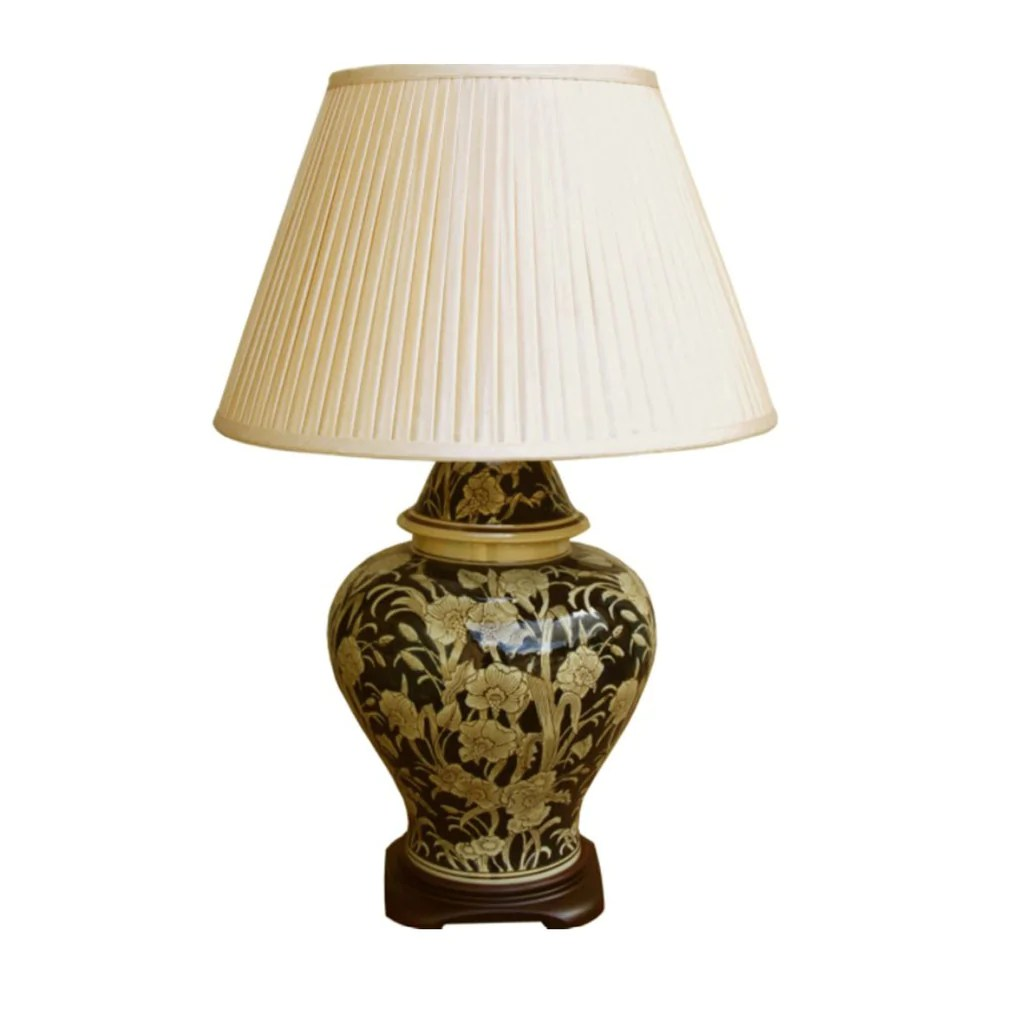 Regal Design Ceramic Embossed Lamp, Regal Design 67cm – Dma Stores