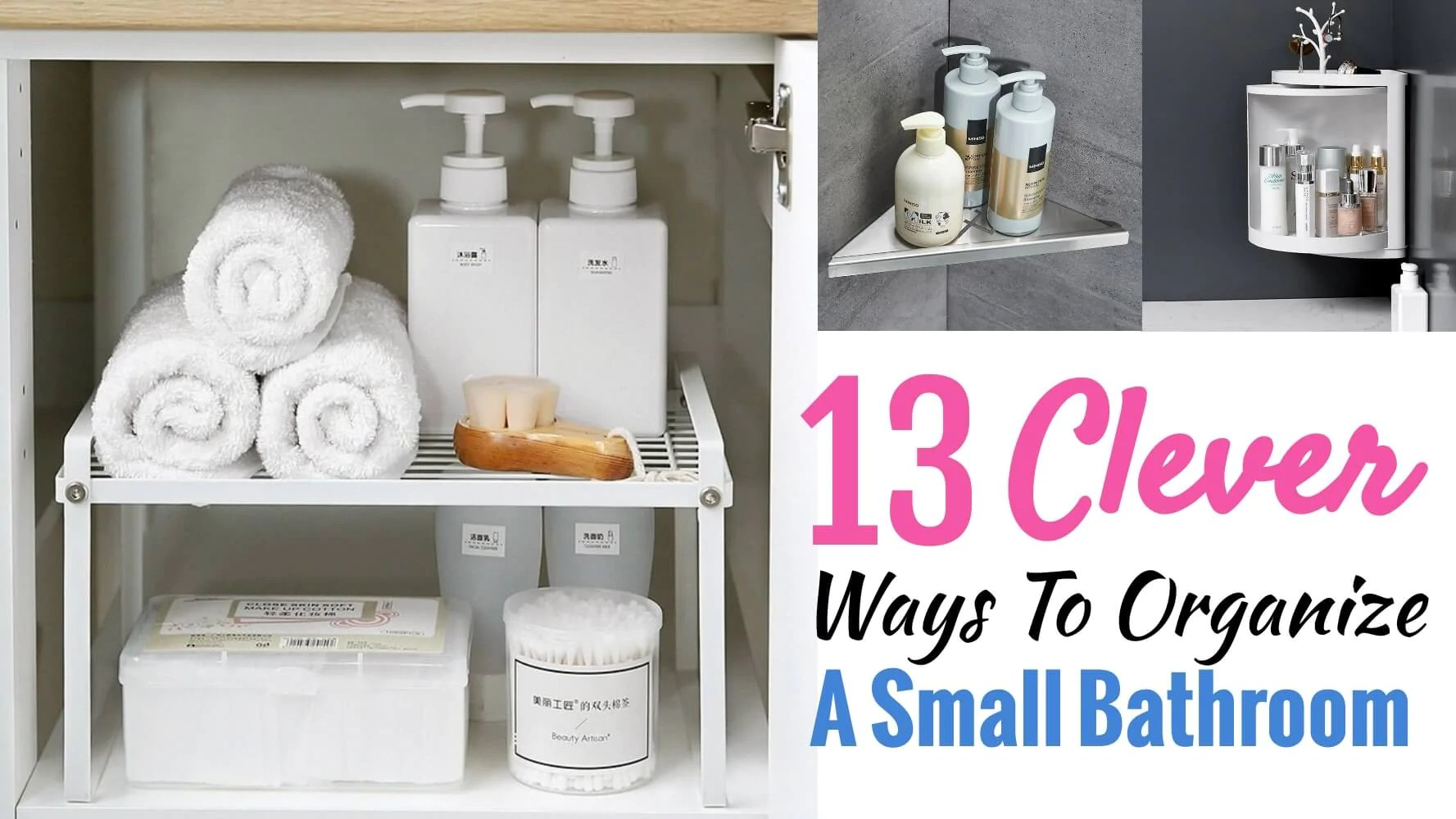 13 Bathroom Storage Ideas For Small Space Homewhis
