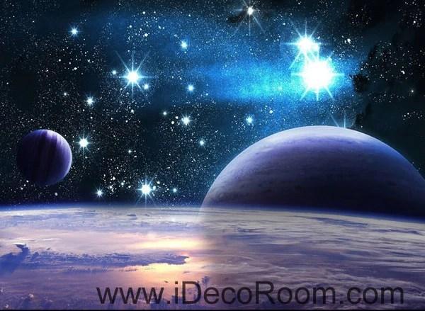 3d Floor Wallpaper Murals Planets Star Night Sky 00100 Wall Mural Wall Paper Decal