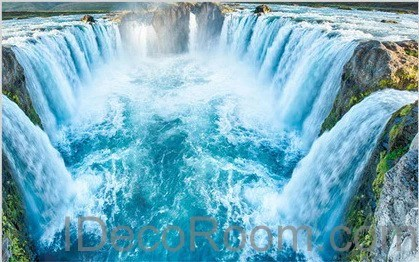 3d Fall Ceiling Wallpaper Waterfall River 00010 Floor Decals 3d Wallpaper Wall Mural