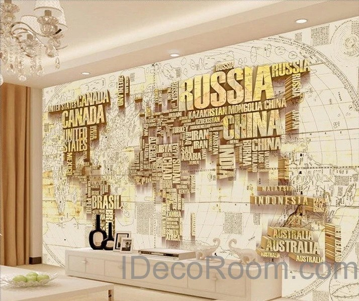 3d Wallpapers For Walls Pakistan Abstract World Map Nation 3d Wallpaper Wall Decals Wall