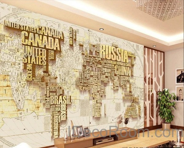 Free 3d Dolphin Wallpaper Abstract World Map Nation 3d Wallpaper Wall Decals Wall