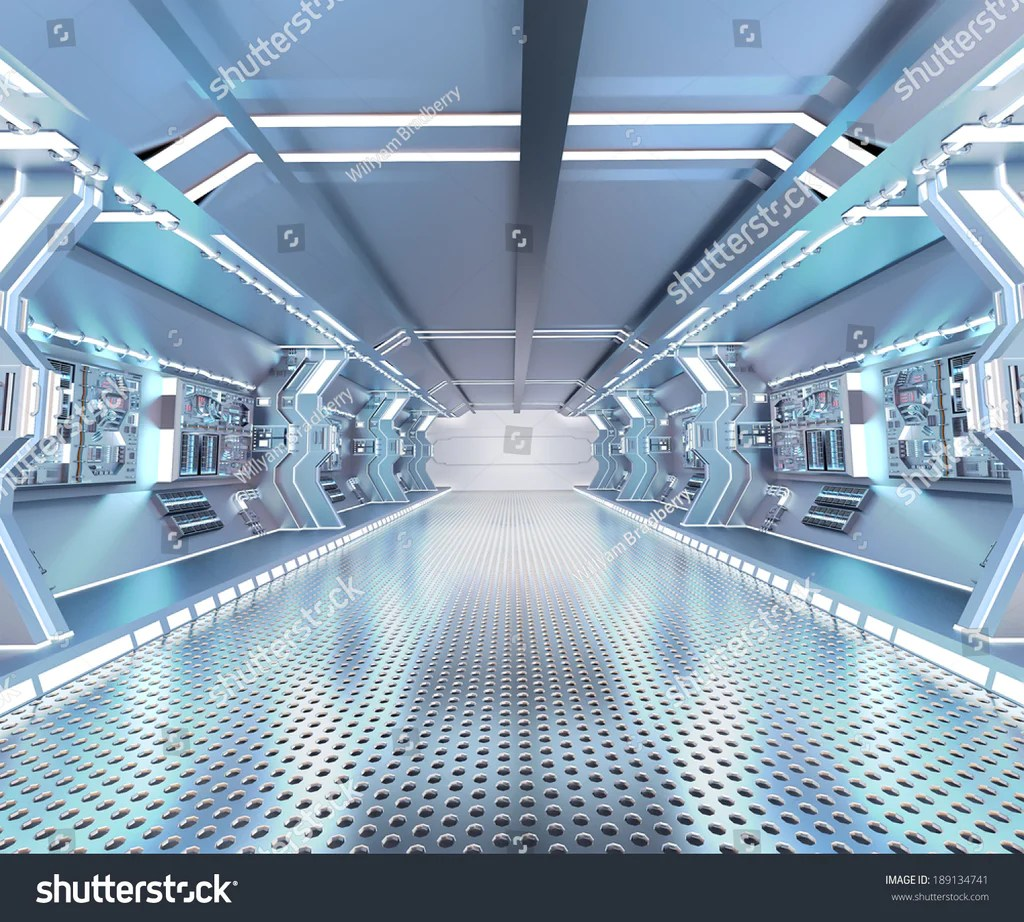 Futuristik Design Futuristic Design Spaceship Interior With Metal Floor And Light Panels Size 8ft W X 8 5ft H Idcwp 285