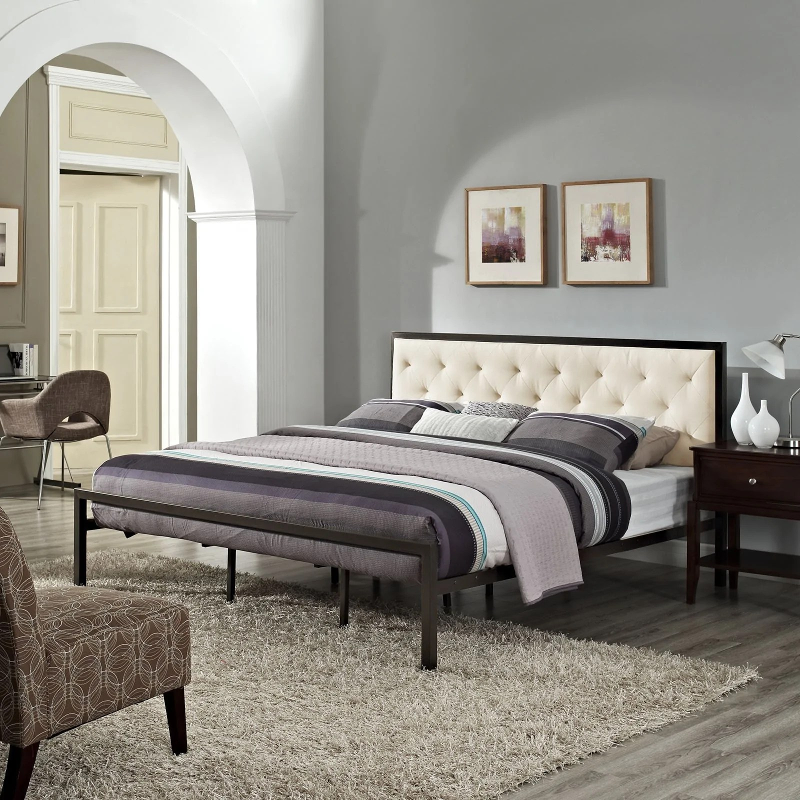 Fabric Bed Frames Milan King Fabric Bed Frame