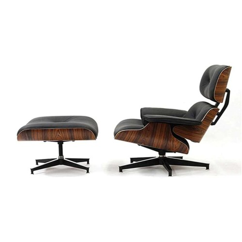 Medium Of Leather Plantation Chair And Ottoman