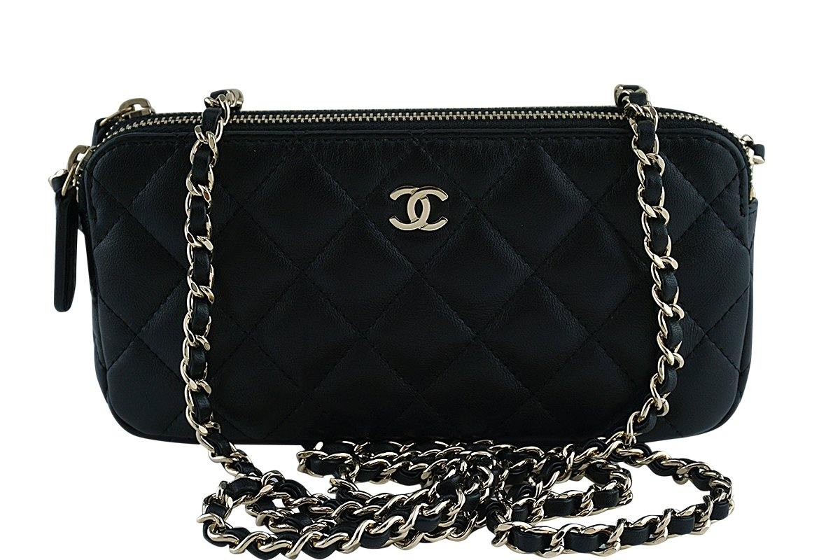 Mini Vs Woc Chanel Black Mini Camera Case Zip Wallet On Chain Woc Bag