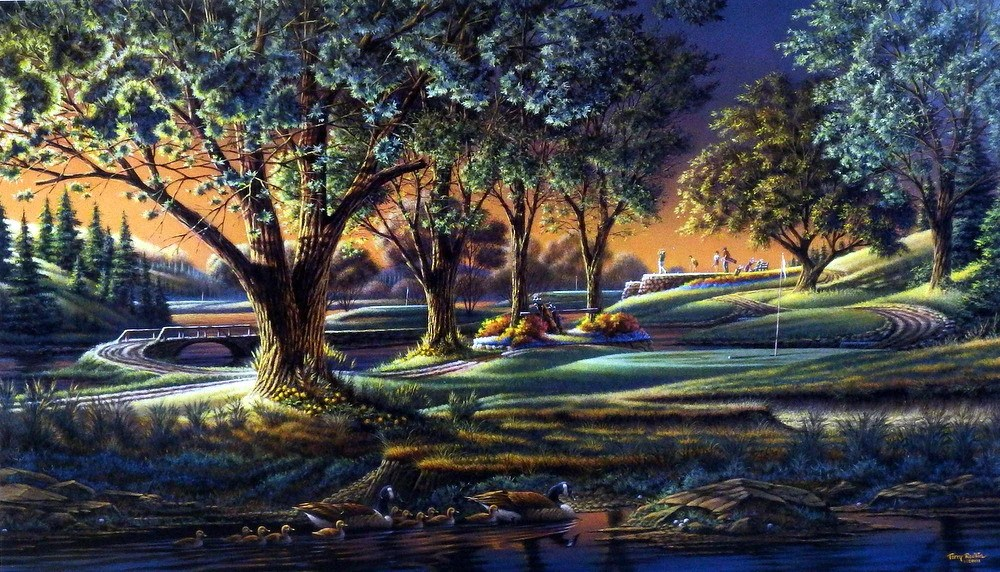 Fall Hunting Wallpaper Terry Redlin Spring On The Green Wildlifeprints Com