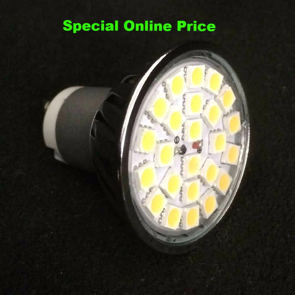 Led Spot Gu10 Gu10 4 Watt 420 Lumen Non Dimmable 24 Smd Led Spot Light