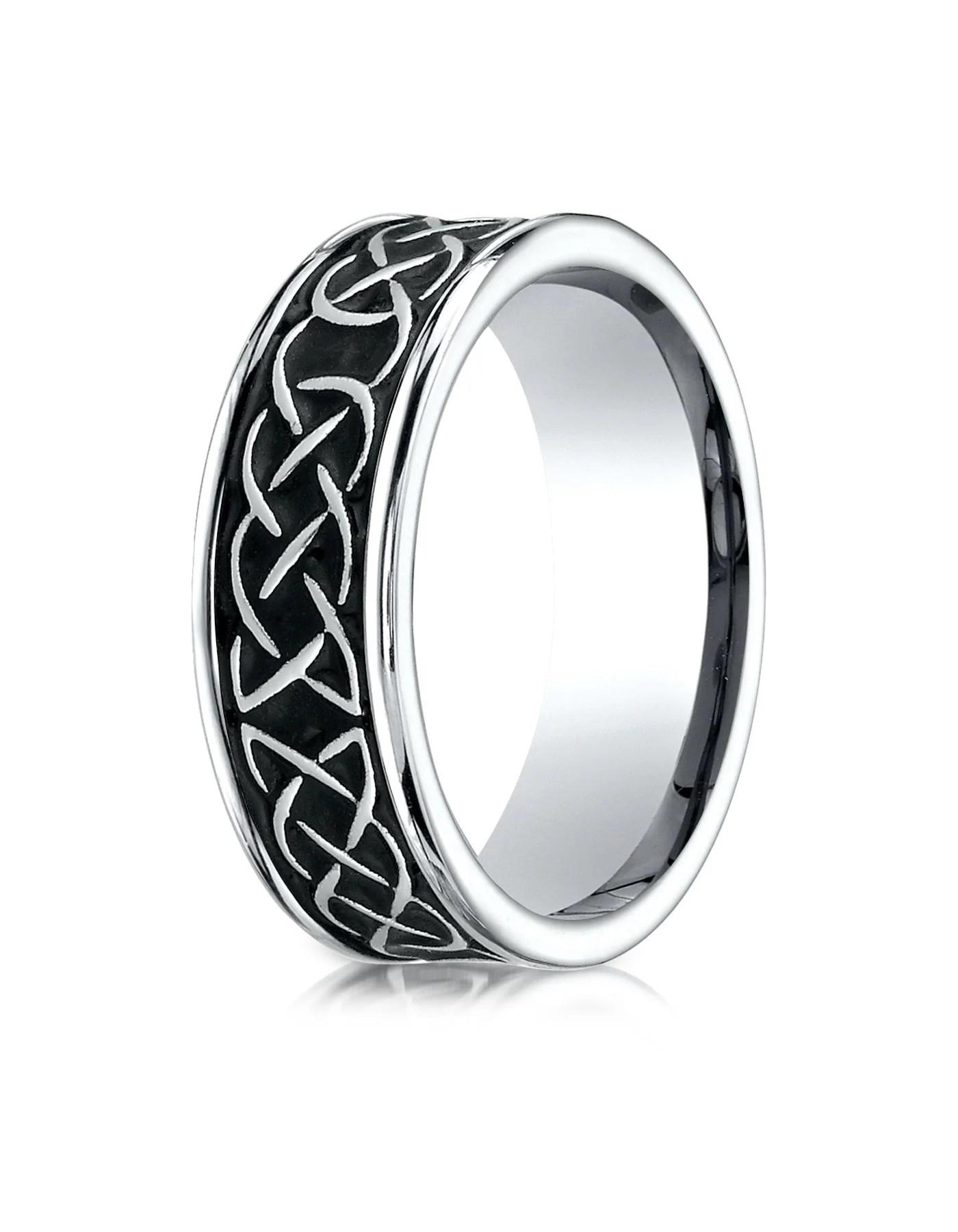 dundee cobalt celtic knot wedding band for men by benchmark cobalt wedding rings DUNDEE Cobalt Celtic Knot Wedding Band for Men by Benchmark