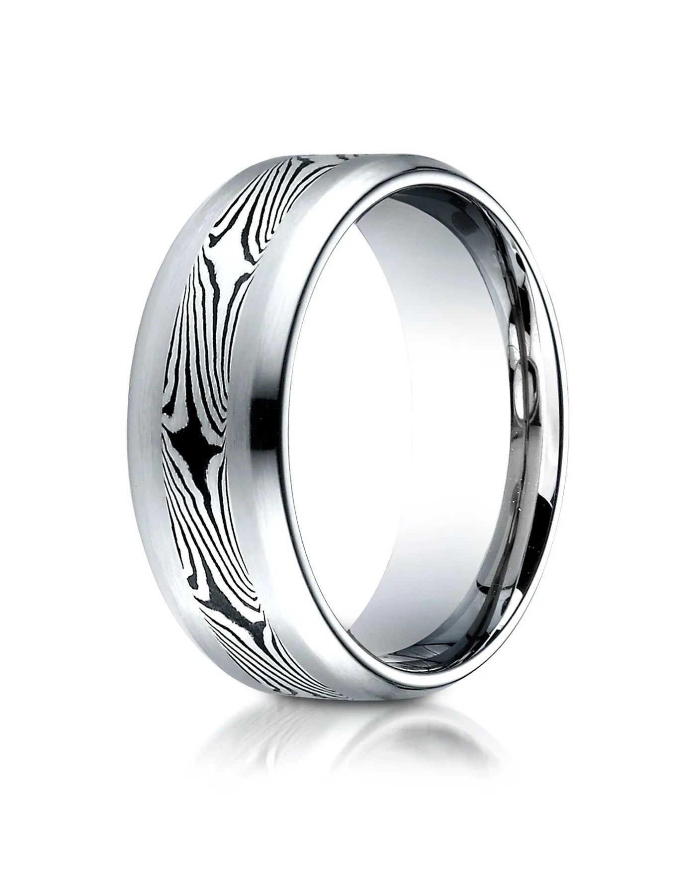 cuneo cobalt mokume wedding band for men by benchmark cobalt wedding rings CUNEO Cobalt Mokume Wedding Band for Men by Benchmark