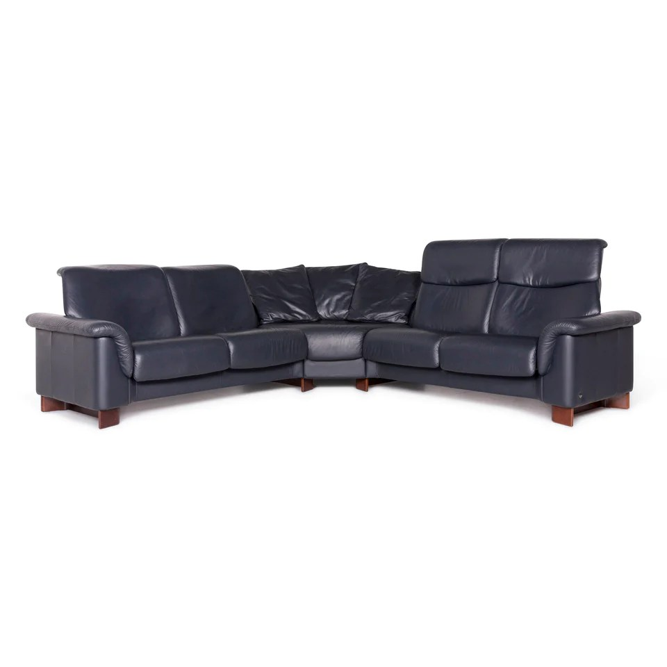 Stressless Leder Ecksofa Blau Sofa Couch 8919 Revive