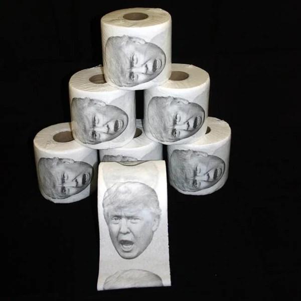Donald Trump Toilet Paper Roll The Blue Deal Llc