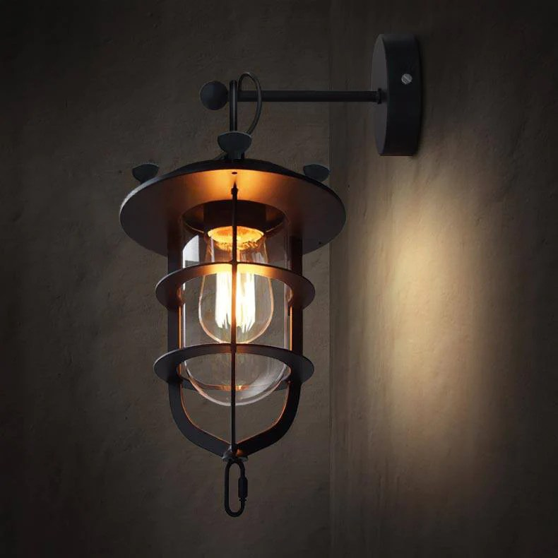 Salle De Bain Indus Lyndon Metal Cage Retro Industrial Wall Sconce Light