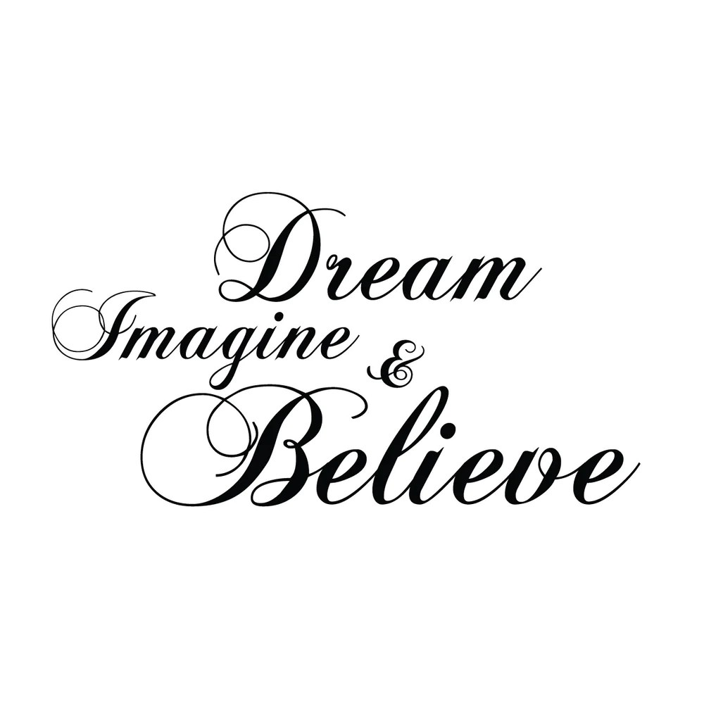 Vintage Wallpaper Quotes Wall Quotes Wall Decals Dream Imagine Amp Believe