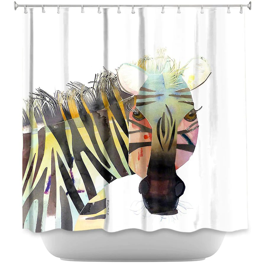 Usa Shower Curtain Dianoche Designs Zebra By Marley Ungaro Fabric Shower Curtain