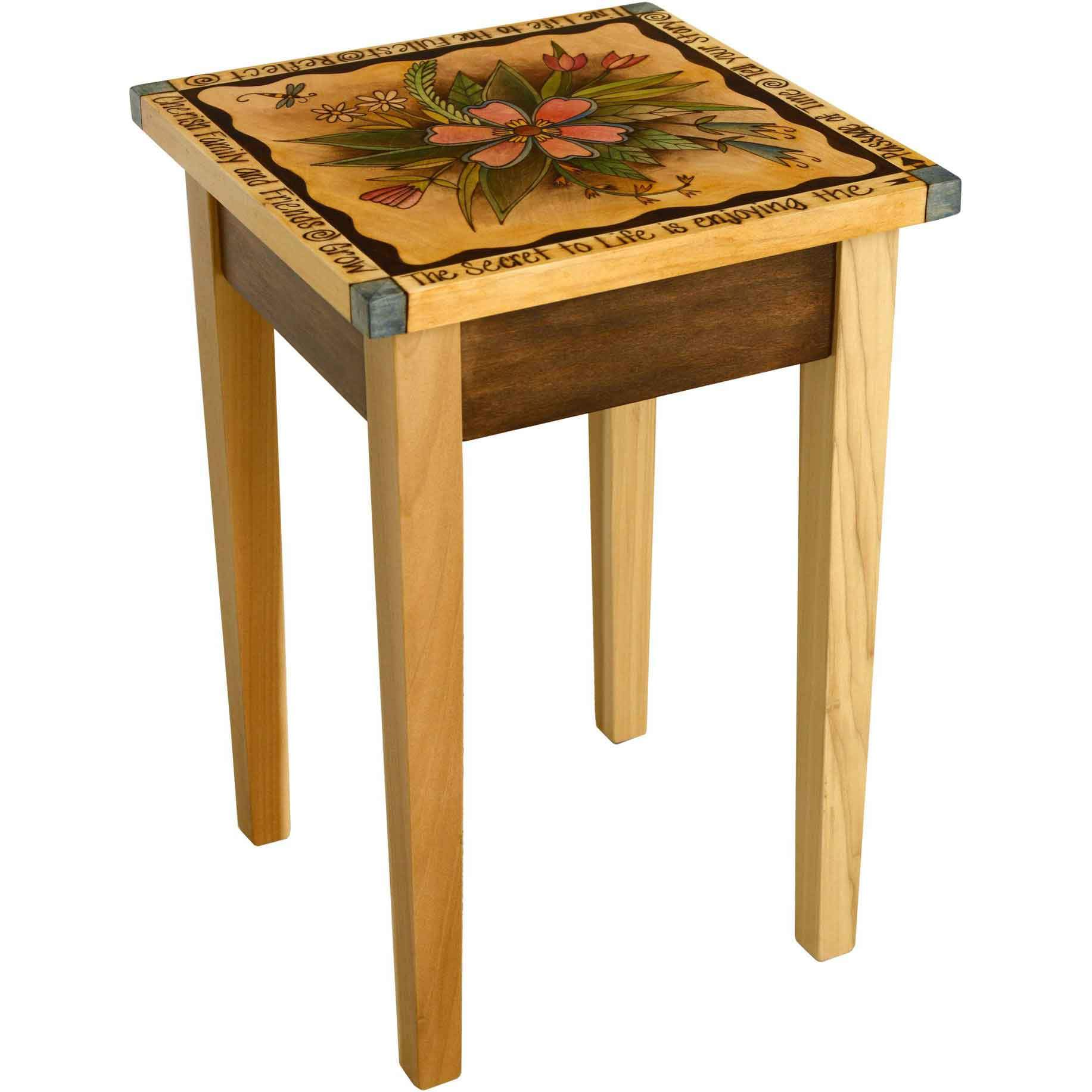 Sticks Small Square End Table End016 01033 Artistic Artisan Designer End Tables Sweetheart Gallery Contemporary Craft Gallery Fine American Craft Art Design Handmade Home Personal Accessories