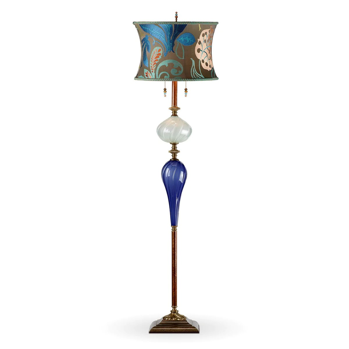Bright Colored Table Lamps Christopher Floor Lamp Kinzig Design Cobalt Blue