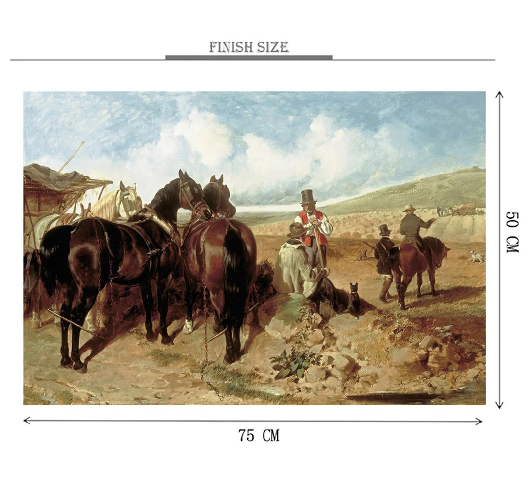 Horse Trader Wooden 1000 Piece Jigsaw Puzzle Toy For Adults And Kids The Original Puzzle