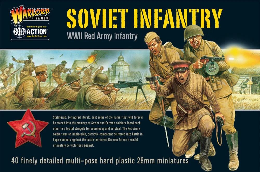 Soviet Infantry Plastic Box Set Warlord Games