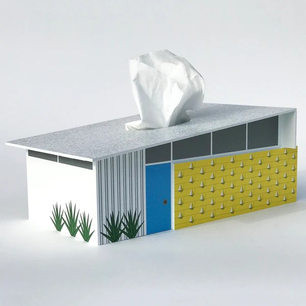 Wholesale Jewelry Phoenix Midcentury Modern Design Wedge House Tissue Box Cover