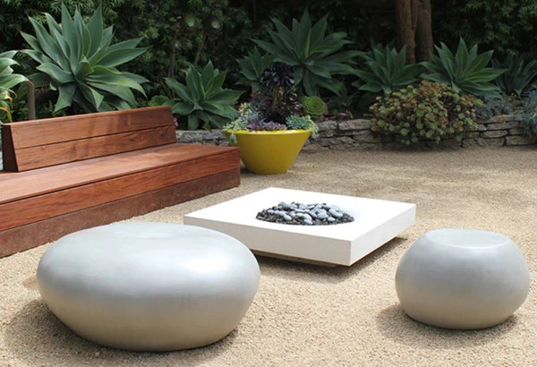 Cast Stone Seating Pebble Creative Living
