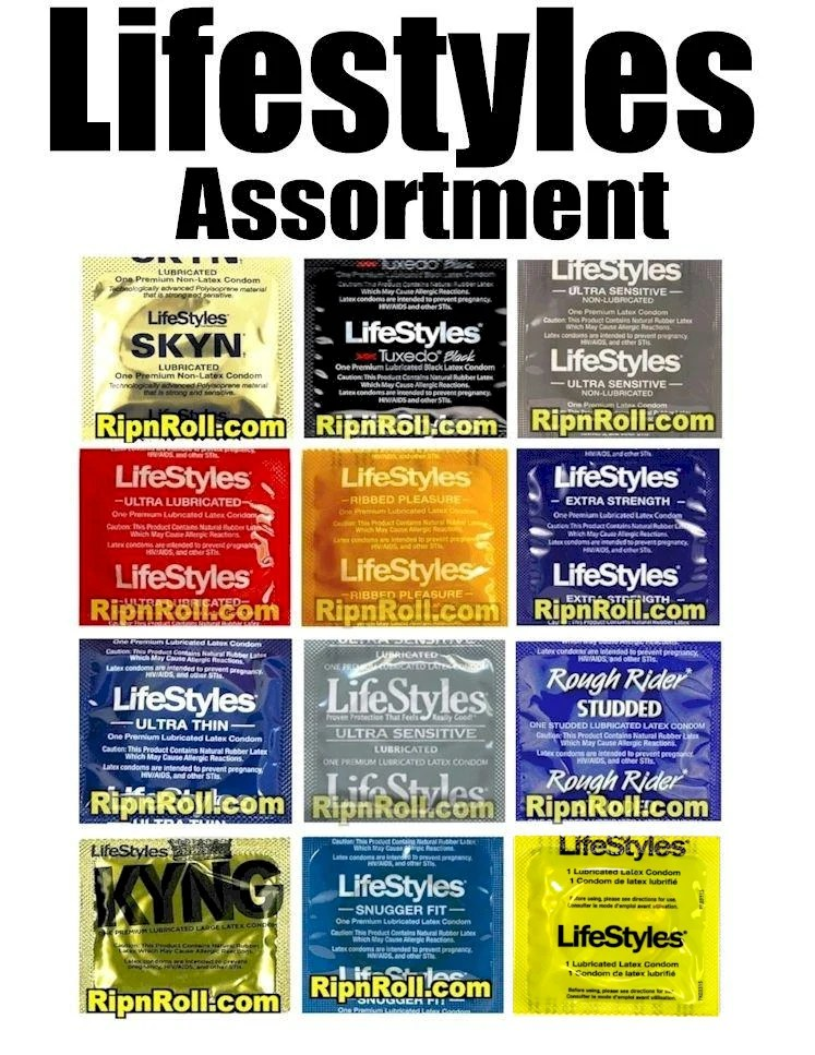 Lifestyles Condom Sampler- Assorted Lifestyles Condoms to ...