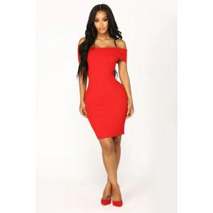 Dainty Gifted Off Shoulder Dress Red Womens Dresses Sexy Going Out Cocktail Dresses Women Kohl S Women 50 Cocktail Dresses