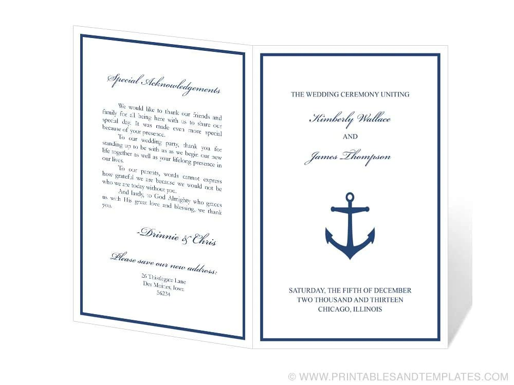 wedding agenda template - fototango - wedding program inclusions