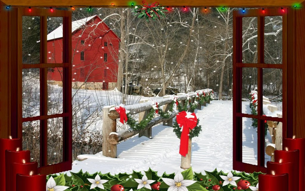 Free Download Of Christmas Wallpaper With Snow Falling Holiday Picture Frames Collection Discovery Center Store