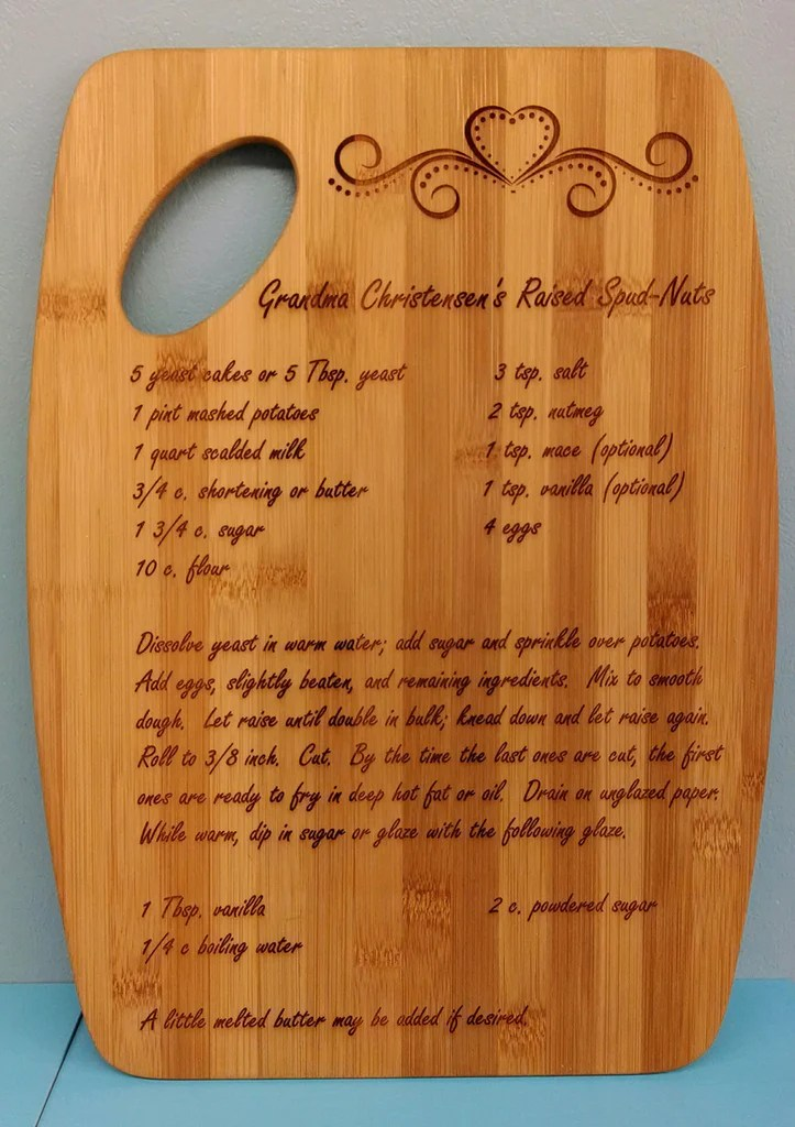 Engraved Recipe Cutting Board | 15 Sentimental Wedding Gifts for the Couple