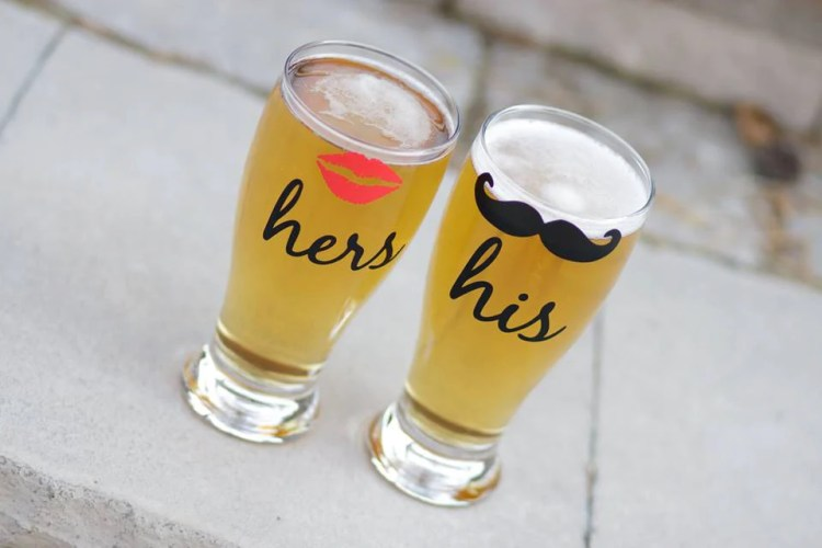 His and Hers Beer Mugs | 15 Sentimental Wedding Gifts for the Couple